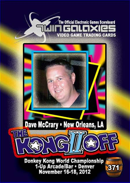 Dave at Kong Off II, where he was one of 12 featured competitors.