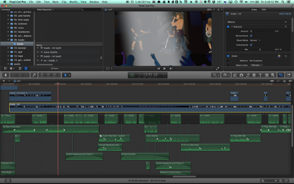 Editing in FCPX