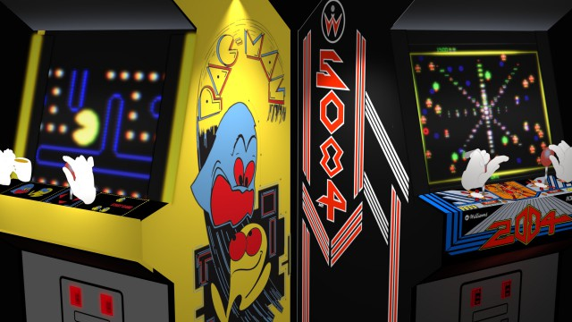Pacman vs. Robotron — one-hand vs. two.
