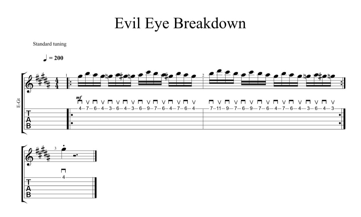 evil eye breakdown crop