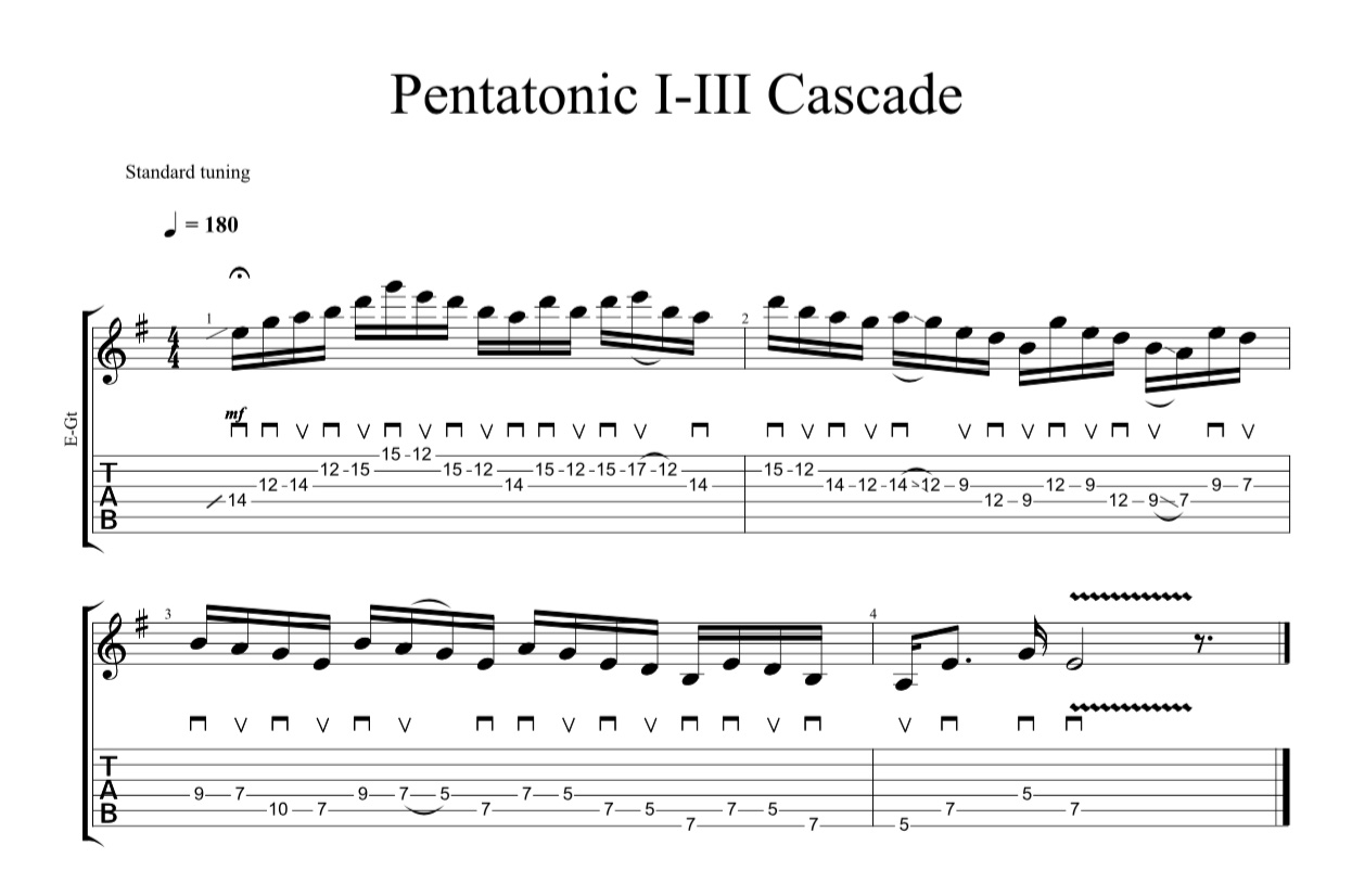 pentatonic i-iii cascade crop