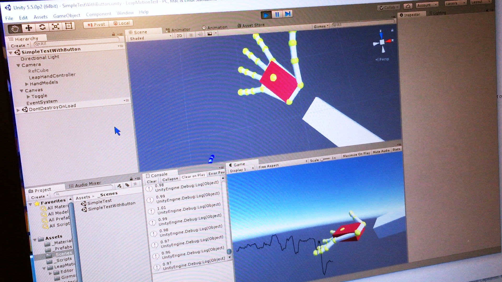 VR Guitar – Motion Capture Testing with Leap Motion