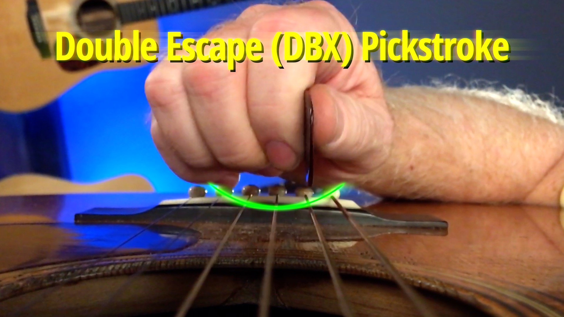 Image of David Grier's DBX pickstroke with curved motion path overal